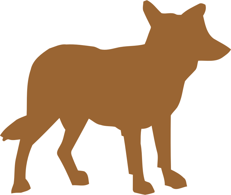 Vectorized medium image png. Coyote clipart cayote