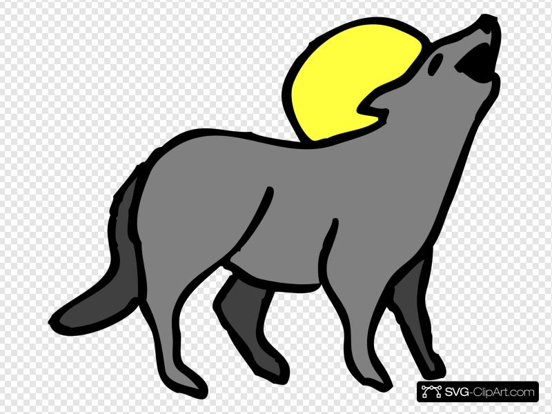 Howling icon and svg. Coyote clipart clip art