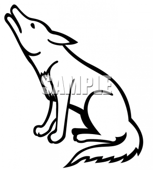 Free howling cliparts download. Coyote clipart cute