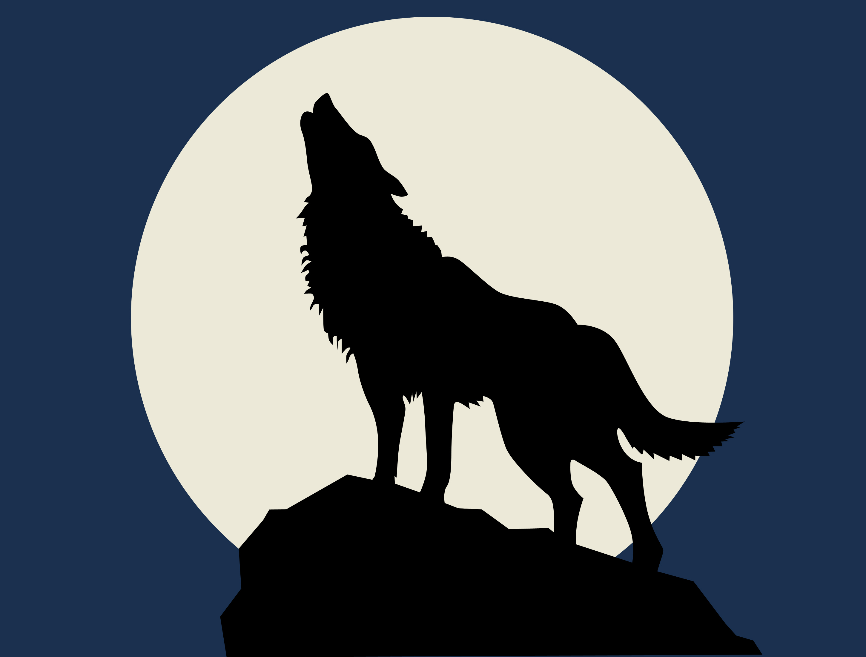 Coyote clipart friendly wolf. Free dingo silhouette cliparts