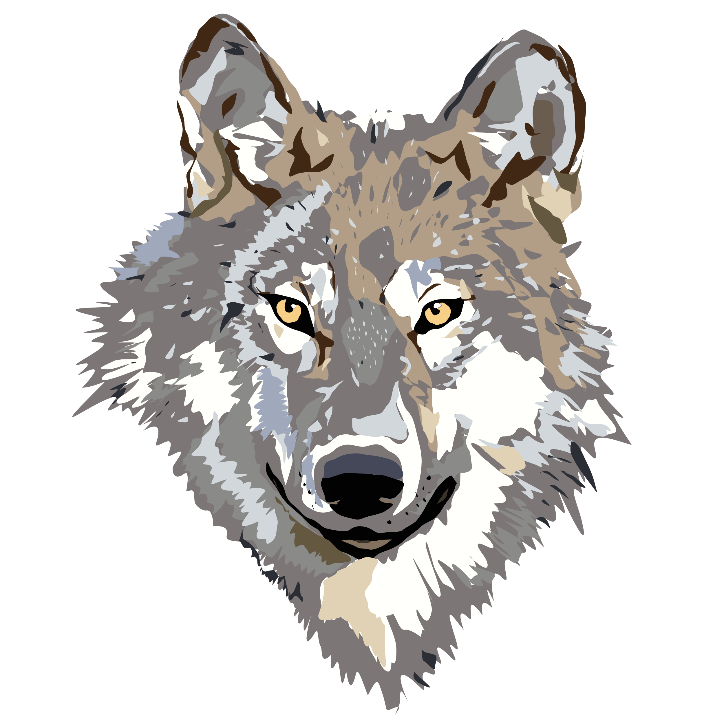 Head animals w png. Wolf clipart coyote