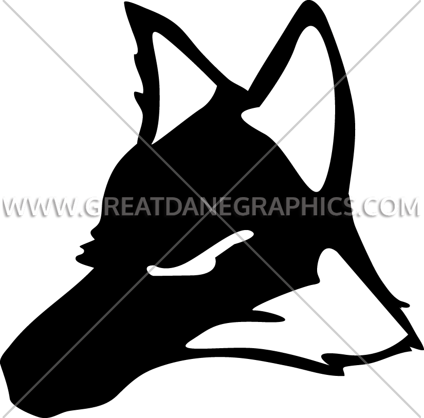 Coyote clipart head. Production ready artwork for