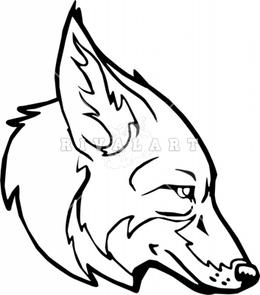 Download drawing clip art. Coyote clipart head