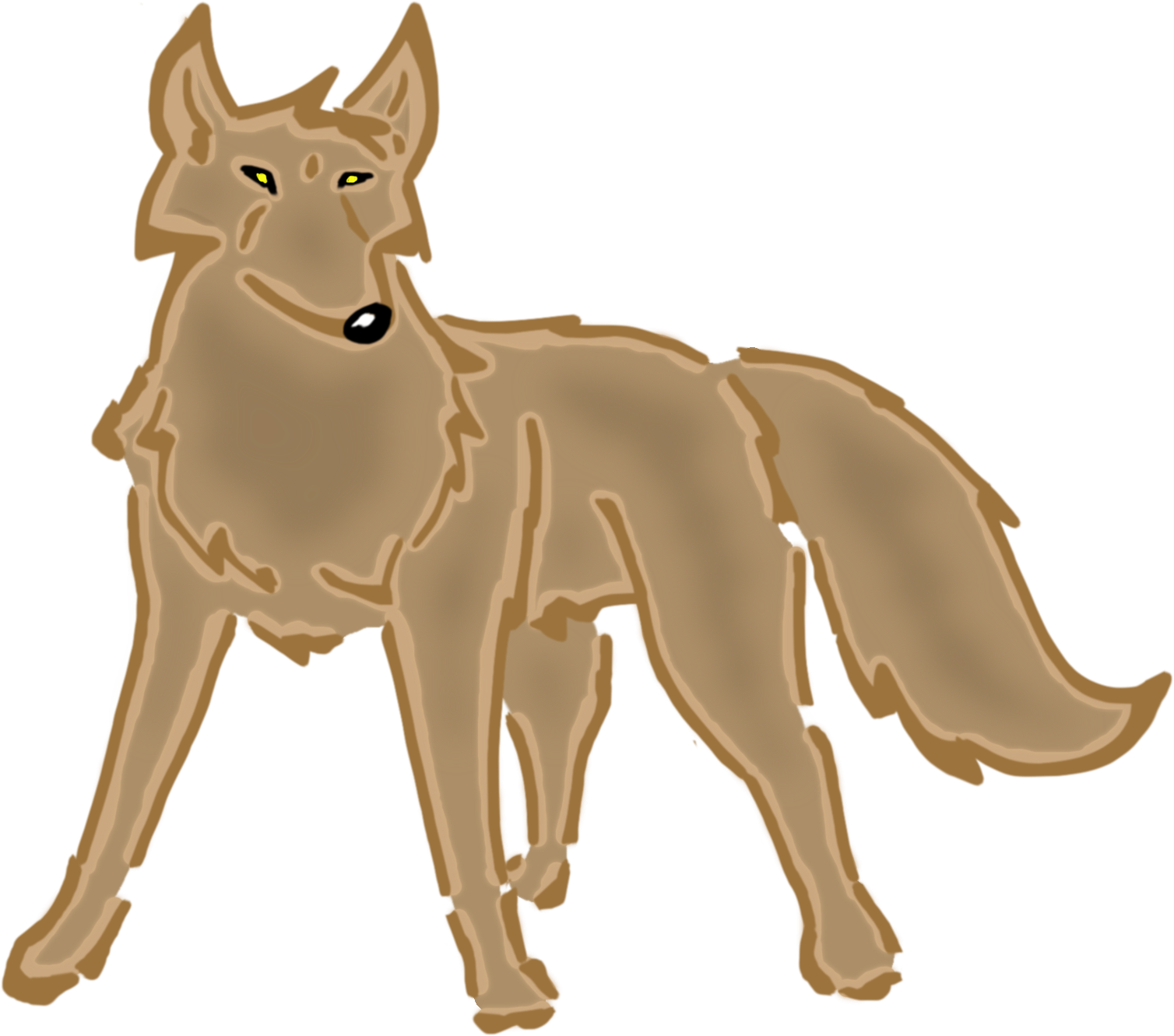 Jackal animated free on. Wolf clipart female wolf