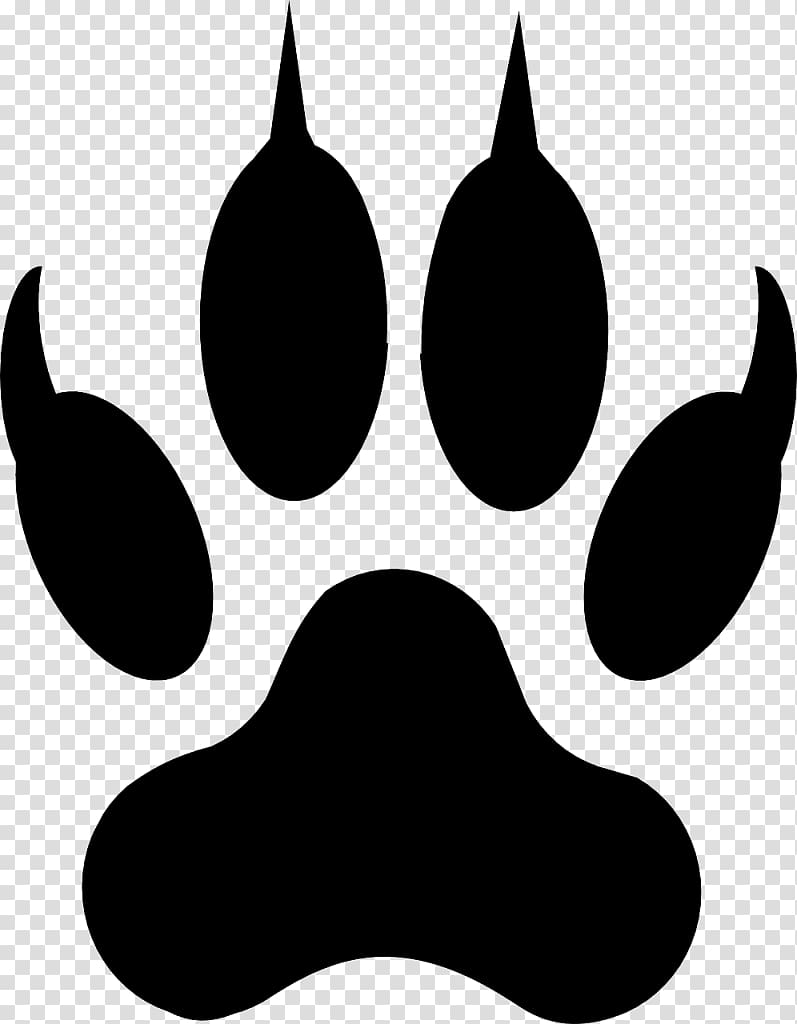 Paws clipart coyotes. Bear paw illustration dog