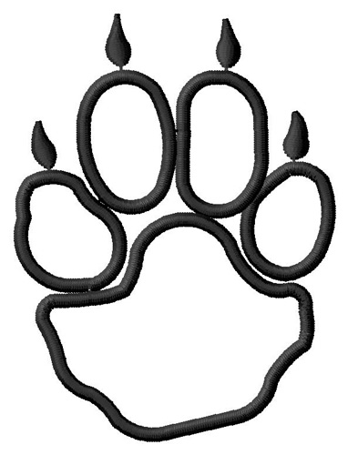 Paws clipart coyotes. Coyote paw print clip