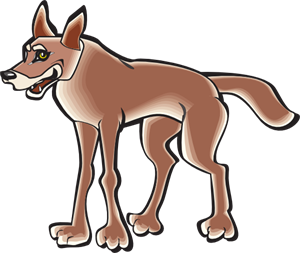 Coyote clipart standing. Cartoon png svg clip