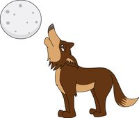 Wolf panda free images. Coyote clipart standing