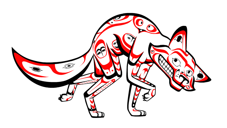 The trickster styled in. Coyote clipart vector