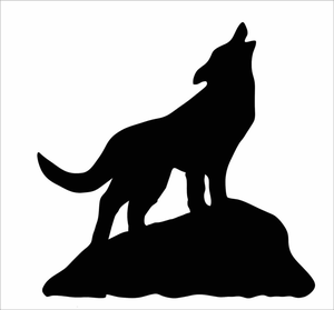 Howling free images at. Coyote clipart vector