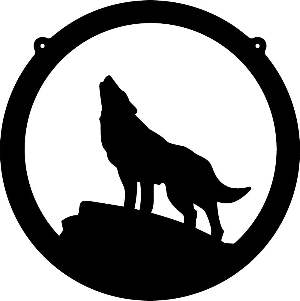 Wolves clipart coyote. Silhouette clip art free
