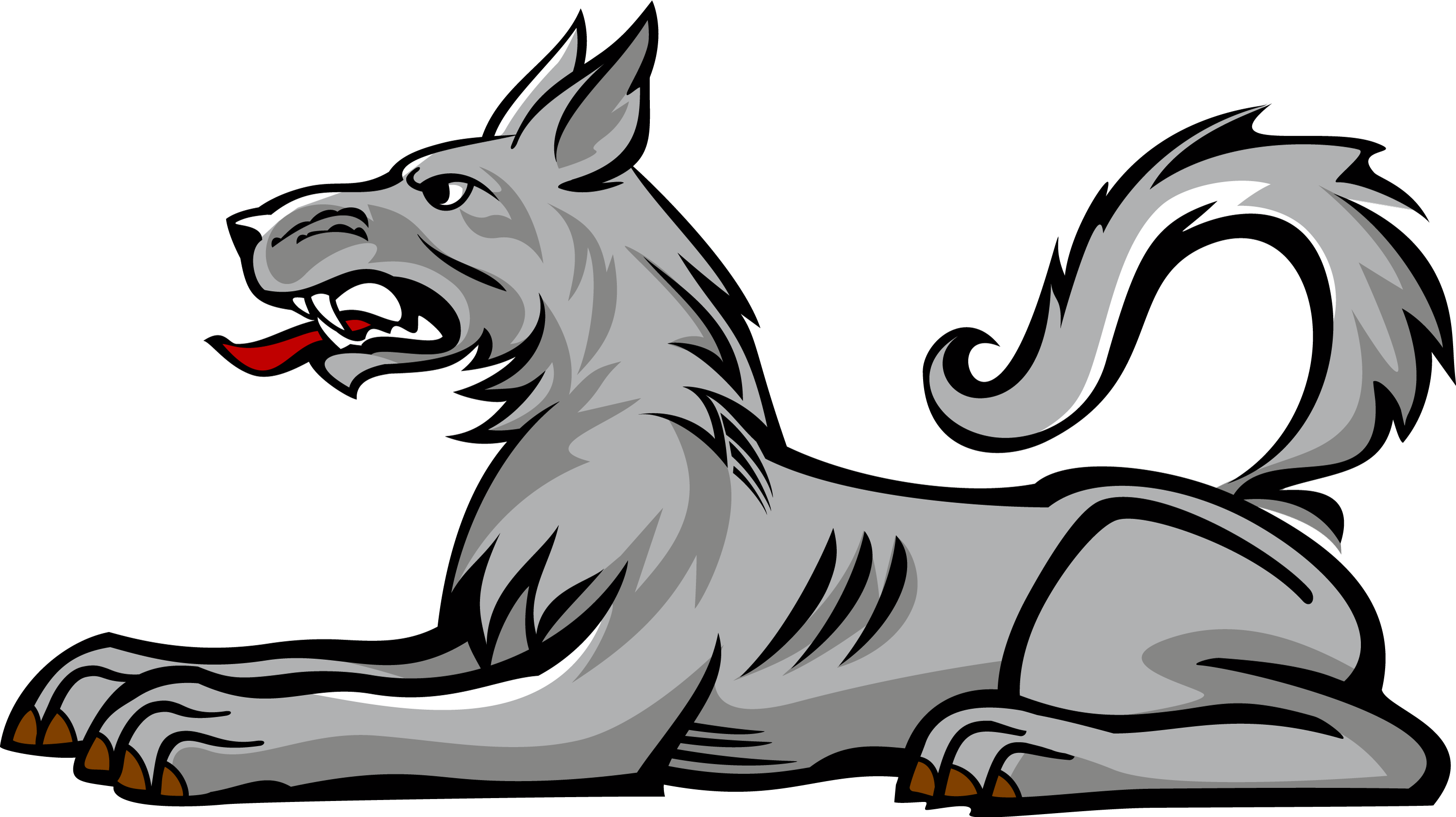 Wolf clipart mountain. Heraldic pencil and in