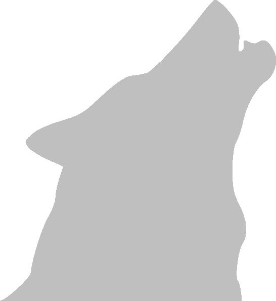 Grey howling. Wolf clipart bear