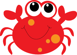 Cute baby . Crab clipart