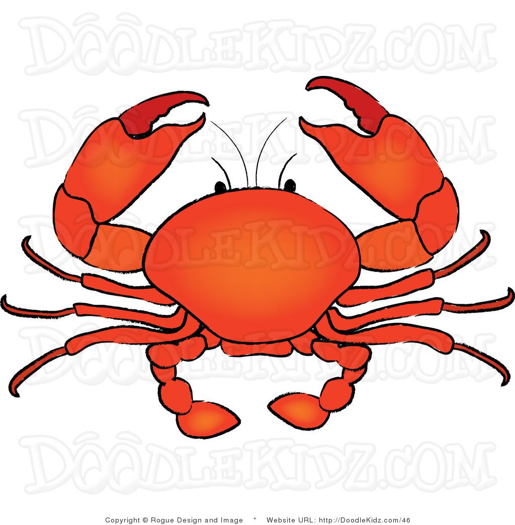Crab clipart. Clip art illustration of