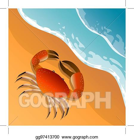 Eps illustration the on. Crab clipart beach theme