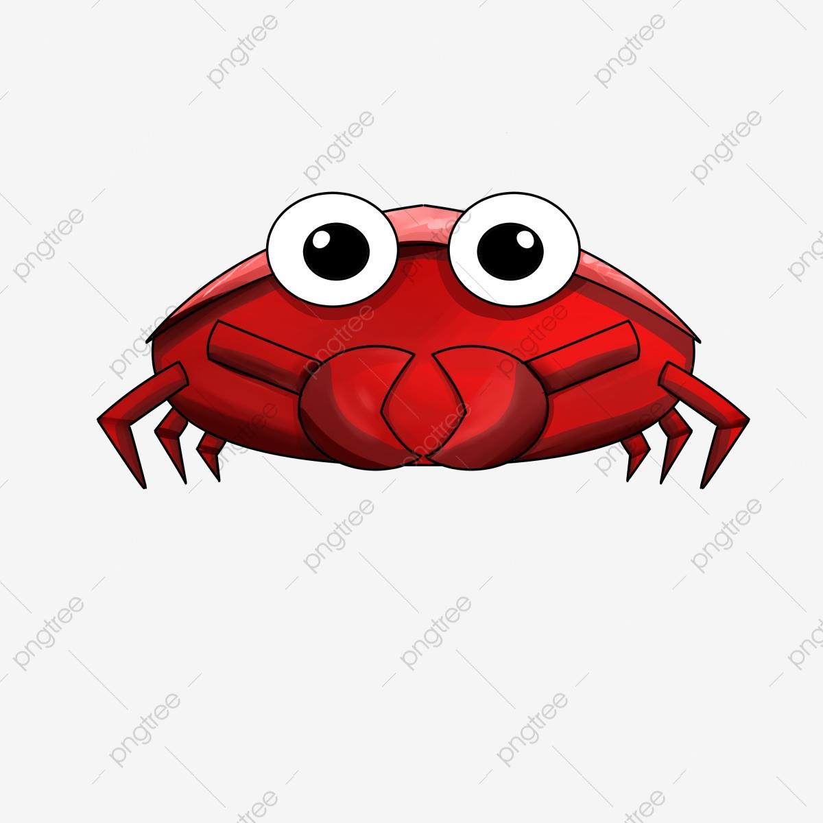 Crabs clipart big eyed. Hand drawn crab cartoon