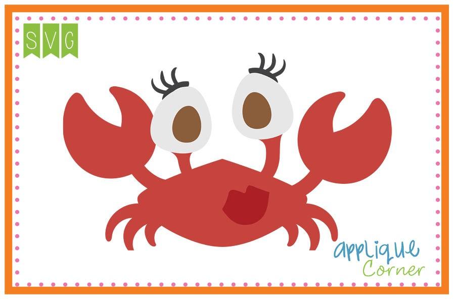 Crab clipart big eyed. Applique corner girl eye