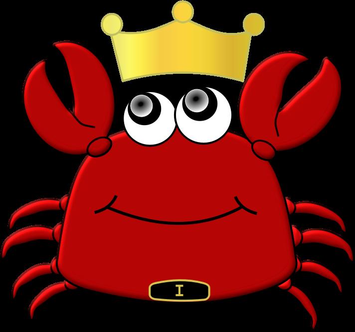 crab clipart big red