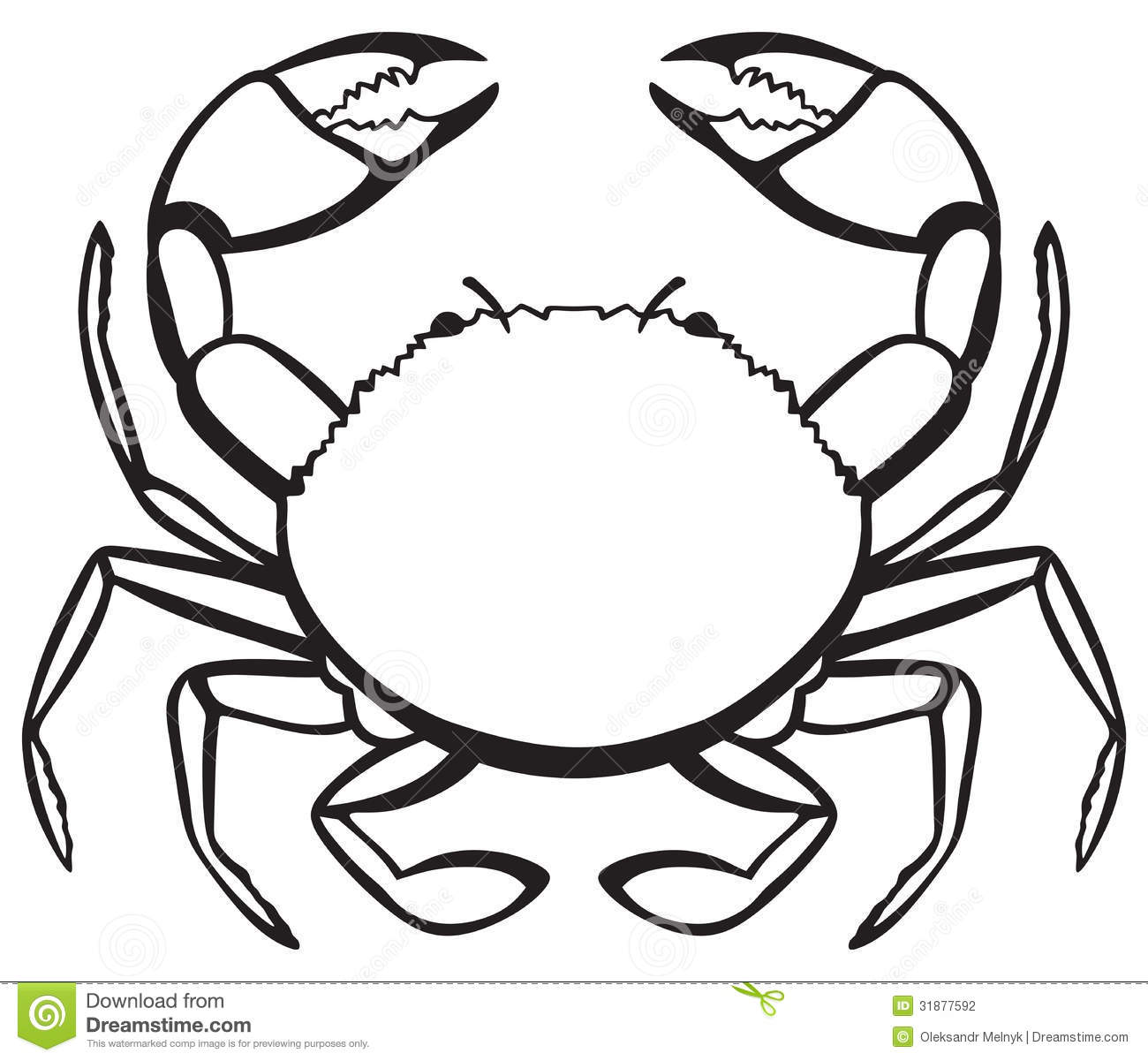 Crab panda free . Crabs clipart black and white
