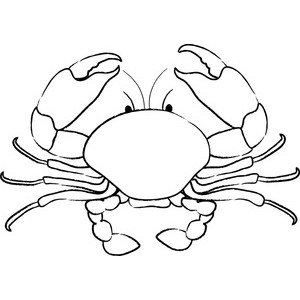 Crabs clipart black and white. Free crab cliparts download