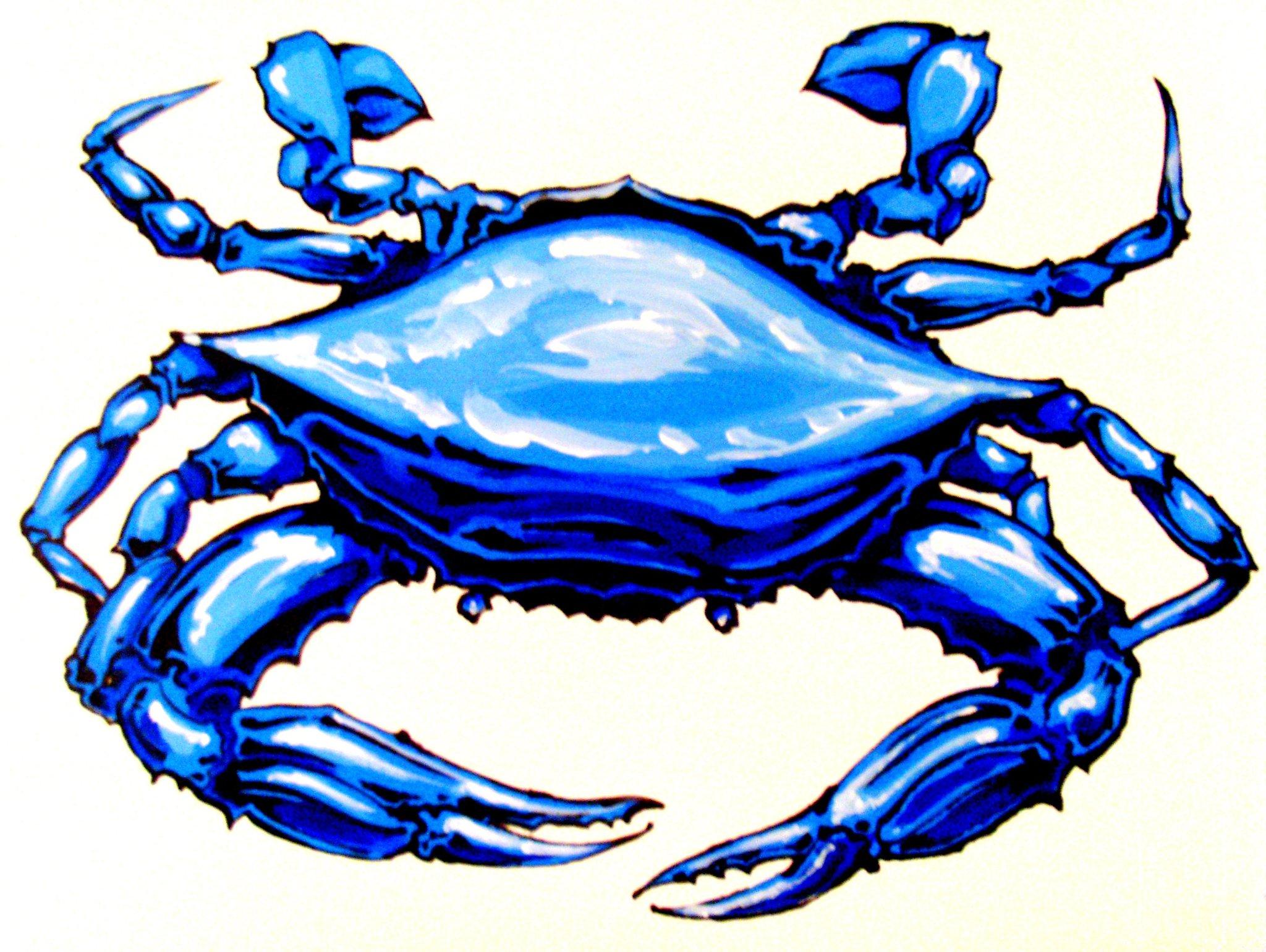 Crab clipart blue crab. Free download clip art