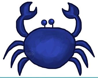Free download clip art. Crab clipart blue crab