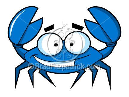 Cartoon clip art would. Crab clipart blue crab