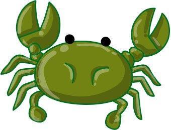 Clip art black and. Seafood clipart green crab