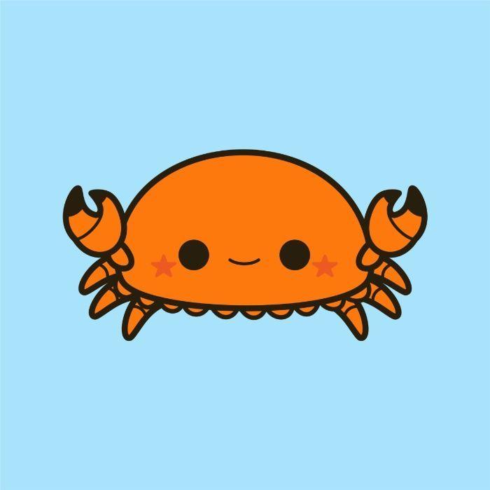 Crab clipart chibi. Kawaii cute drawings
