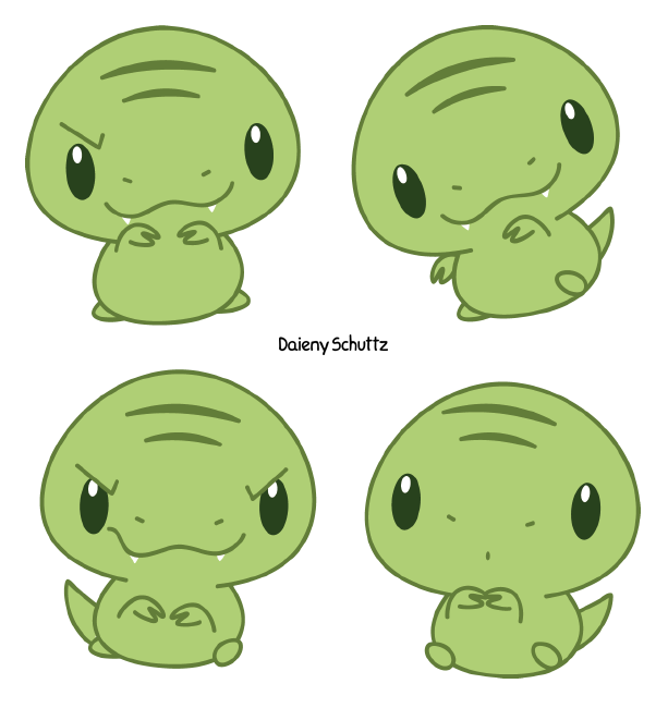 Rex by daieny on. Manatee clipart chibi