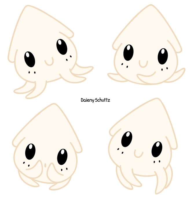 Chibi by daieny deviantart. Squid clipart simple