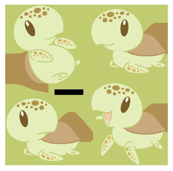 Loggerhead sea turtle by. Crab clipart chibi