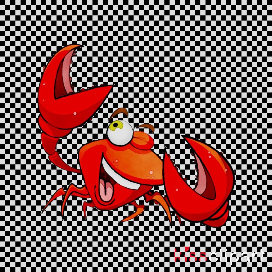 Drawing crab cartoon illustration. Crabs clipart christmas