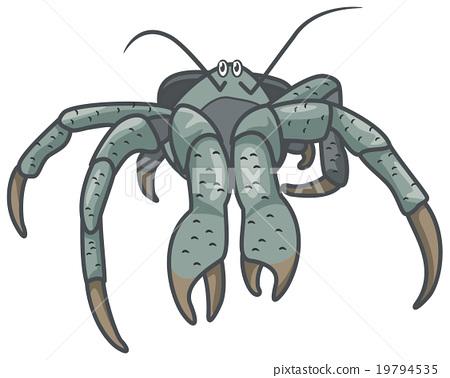 Crab clipart coconut crab. Stock illustration pixta