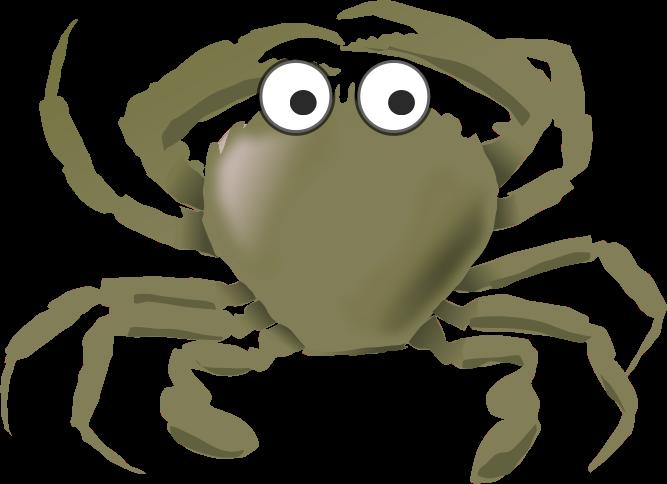 Cartoon green medium image. Crab clipart comic