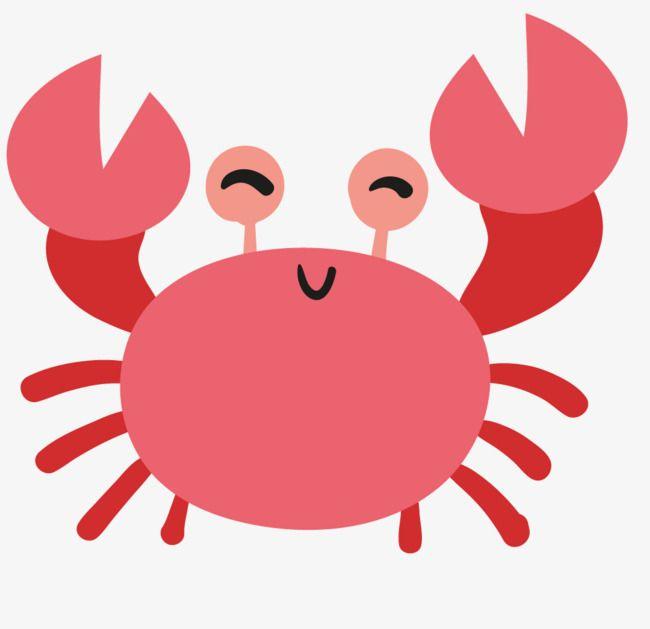 Crab clipart comic. Cute material red cartoon
