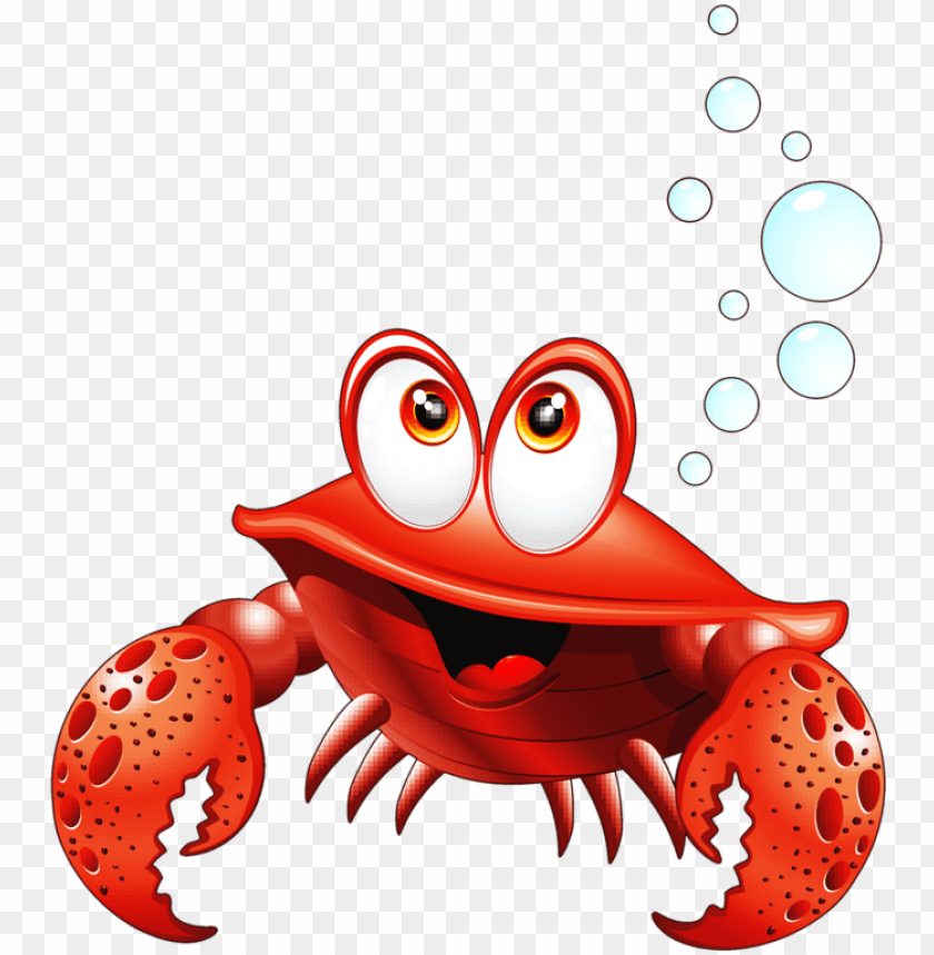 Crab clipart comic. Fish cartoon crabs png