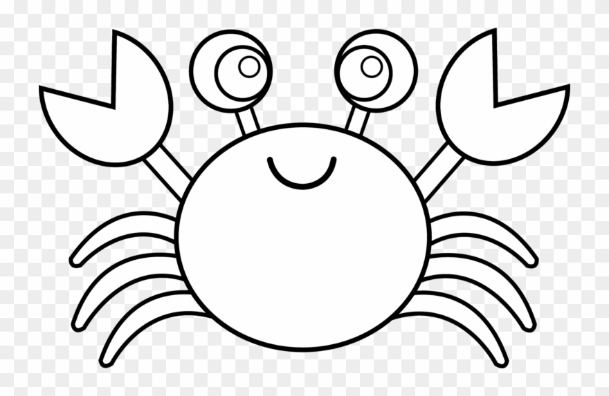 Crabs clipart black and white. Crab blue
