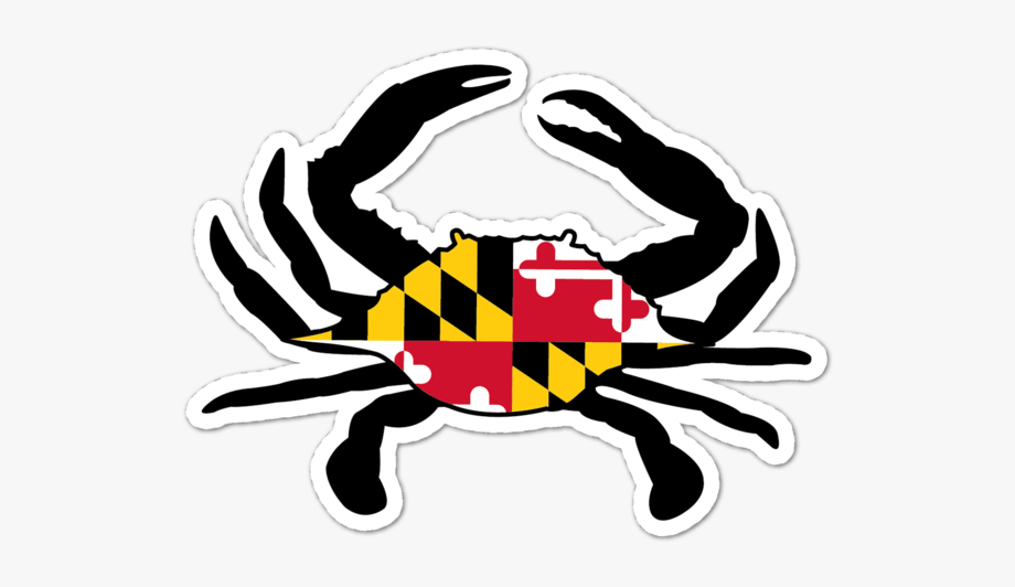 Crab clipart crab maryland. Crabs state flag