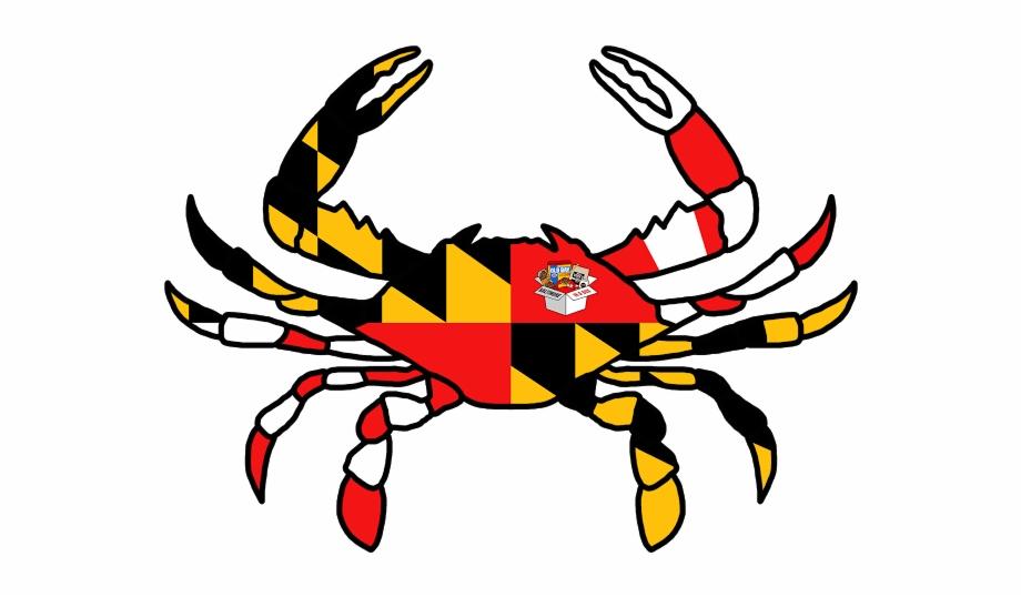 Crab clipart crab maryland. Mdcrabbox old bay sticker