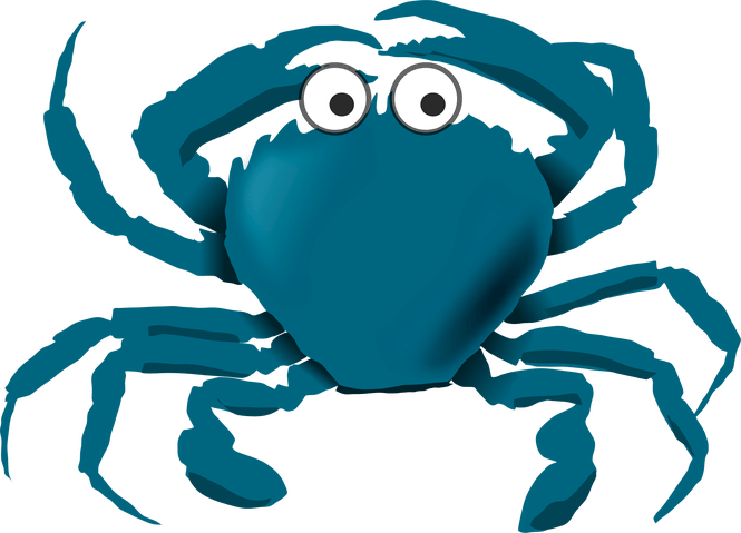 Cartoon blue crab images. Crabs clipart std