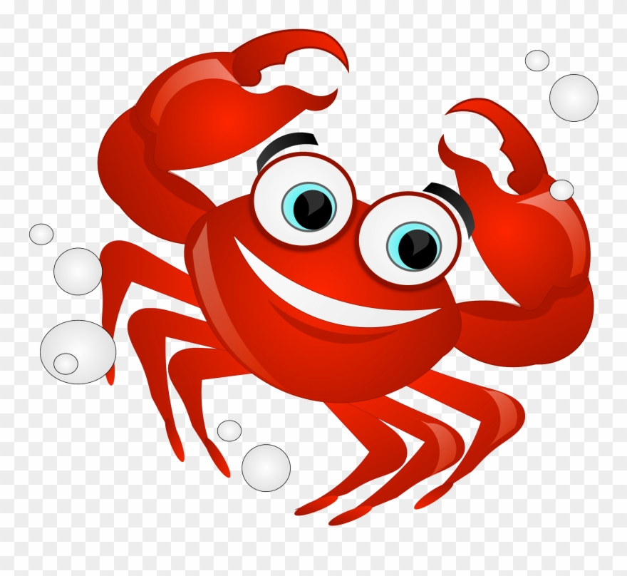 Crabs clipart crabbing. Hermit crab red free