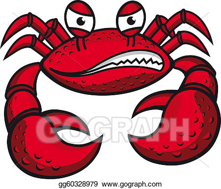 Crab clipart crabby. Vector stock angry with