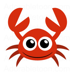 Cute free download best. Crabs clipart red crab
