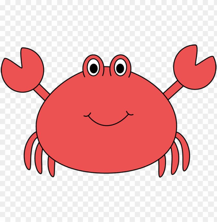 Crab clipart cute underwate animal. Sea animals png image