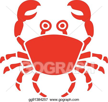 Vector stock illustration with. Crab clipart eye