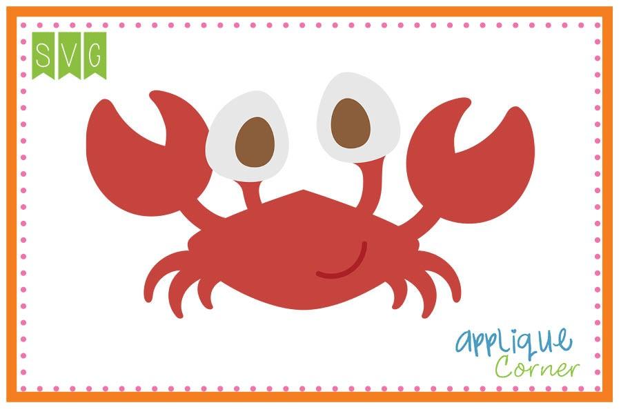 Applique corner boy big. Crab clipart eye