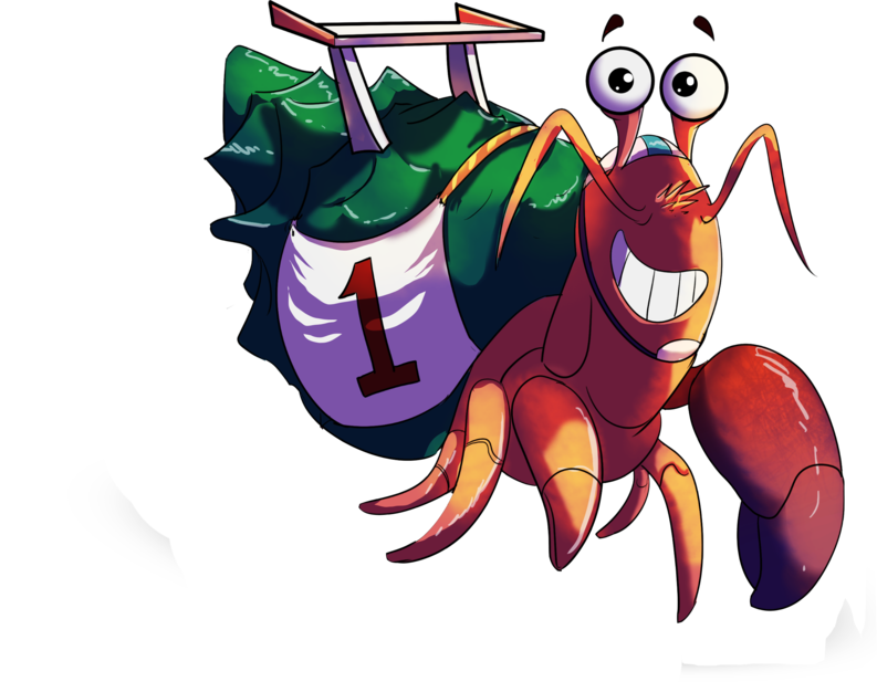 Race events by mister. Crab clipart friendly