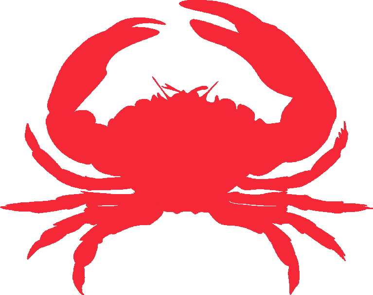 Crab clipart friendly. August boy scout buzz